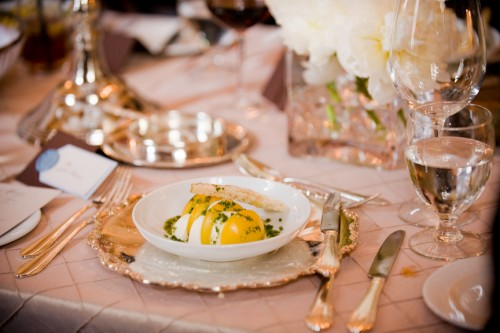 Elegant Silver and Gold Place Setting
