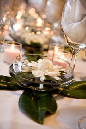 Floating Gardenia Centerpieces