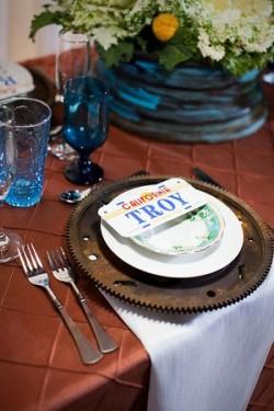 Junkyard Beauty Modern Wedding Tabletop
