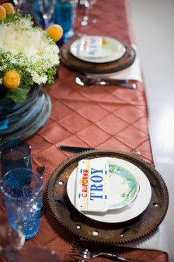 License Plate Place Settings