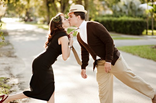 Old Hollywood Glamour Engagement Session-07