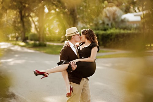 Old Hollywood Glamour Engagement Session-10
