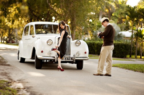 Old Hollywood Glamour Engagement Session-13