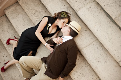 Old Hollywood Glamour Engagement Session-24