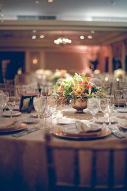 Orange and Gold Tablescape Reception Ideas