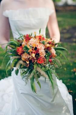 Orange and Red Garden Bouquet