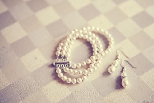 Pearl Bracelet and Earrings