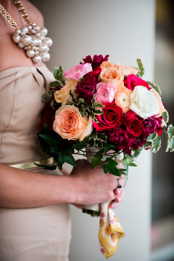 Pink-and-Peach-Bridesmaids-Bouquet