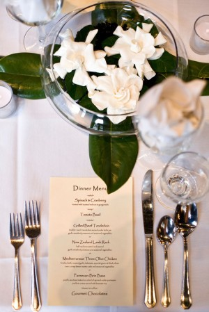 Place Setting with Dinner Menu