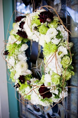 Plum and Green Wreath with Vines