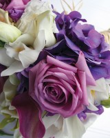 Purple White and Green Spring Bouquet