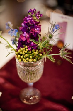Purple and Green Centerpiece Wedding Ideas