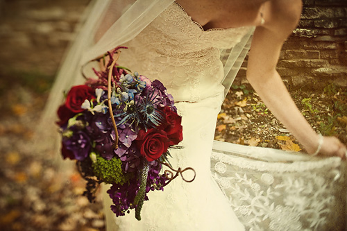 Purple and Red Wildflower Bouquet