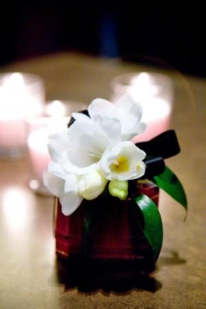 Small Gardenia Wedding Centerpiece