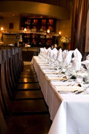 Small Restaurant Wedding Reception