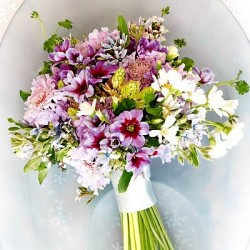 Summery Purple Blue and White Bouquet