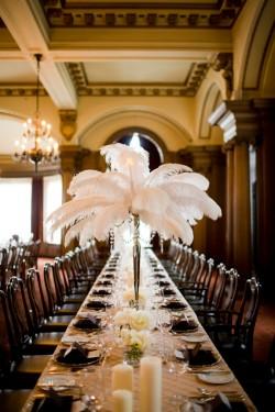 Tall White Feather Centerpieces Wedding Ideas