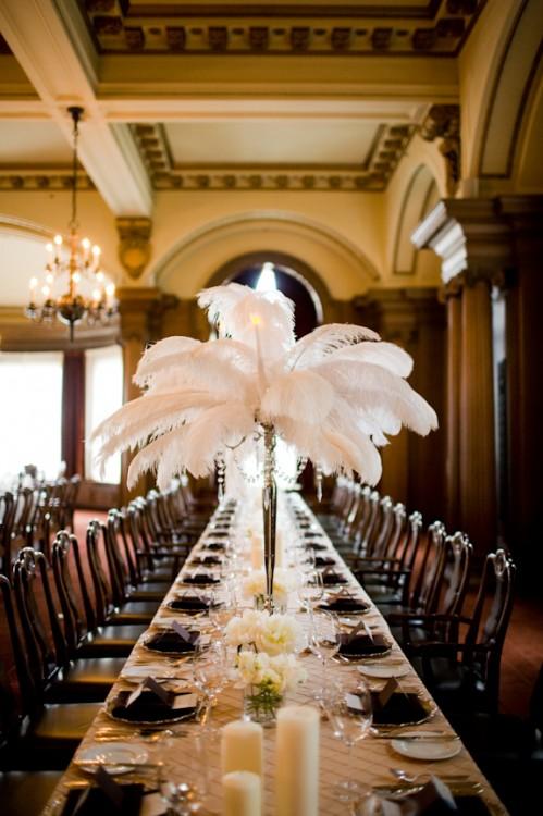 Tall White Feather Centerpieces Wedding Ideas Elizabeth Anne