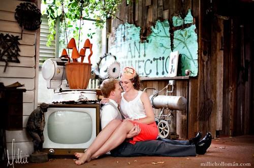 Vintage Flea Market Engagement Photos-11