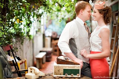 Vintage Flea Market Engagement Photos-14