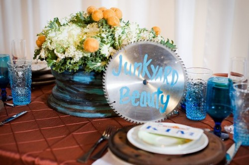 Wedding Tabletop Made with Found Objects