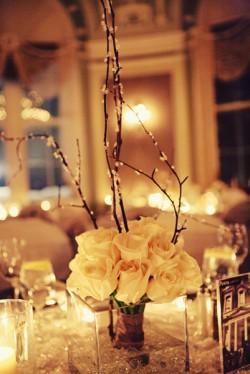 White Rose Branch Centerpiece