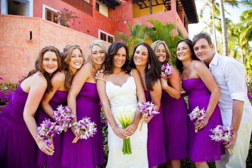purple-strapless-bridesmaid-dresses