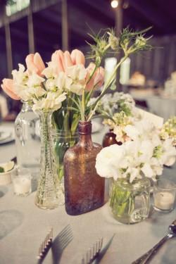 Mason Jar Vases Centerpiece