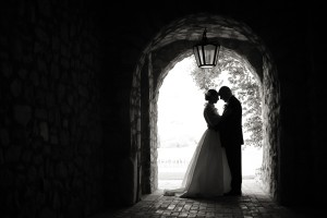 Bride-and-Groom-in-Silhouette