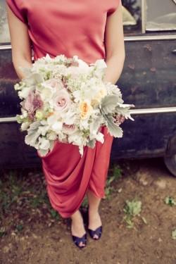 Bride in Mauve Gown