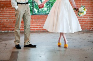 Bride in Yellow Shoes
