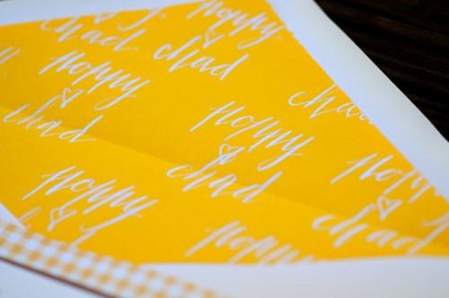 Calligraphy Envelope Liners Nicole Black