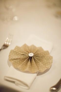 DIY Pinwheels Wedding Place Setting Decor