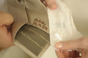 Embroidered Handkerchief and Tie Personalized Wedding Accessories