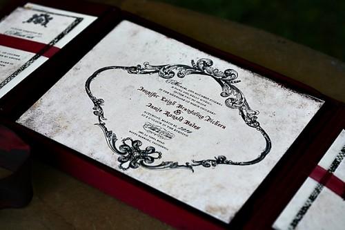 Folio Wedding Invitation Lehr and Black