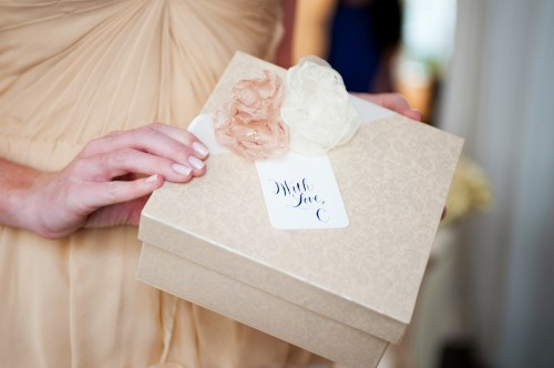 Gift Packaging with Organza Flowers