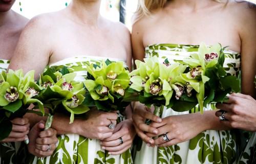 Green-Floral-Bridesmaids-Dresses