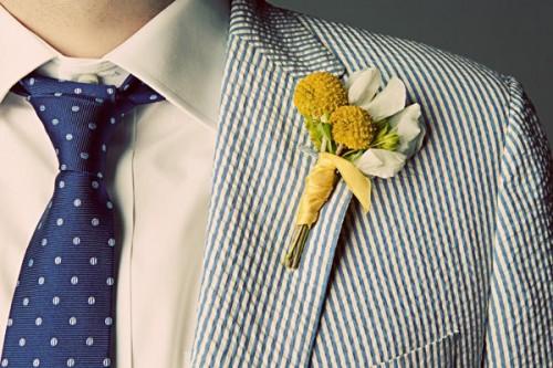 Groom in Seersucker Suit