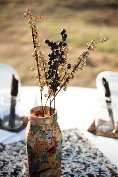 Handmade vase wedding centerpiece ideas elizabeth anne