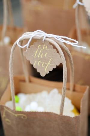 Kraft Paper Calligraphy Favor Bags