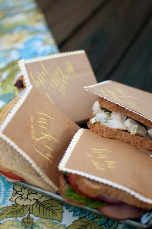 Kraft Paper Sandwich Wraps Party Ideas