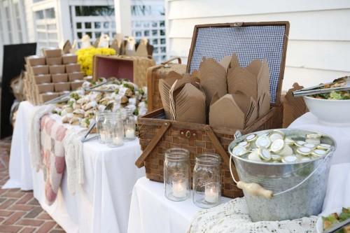 Kraft Picnic Box Wedding Buffet