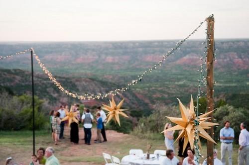 Lights and Origami Stars Wedding Decor Ideas