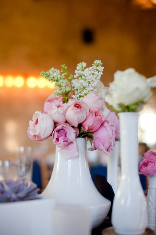 Milk-Glass-Vases-and-Pink-Flowers