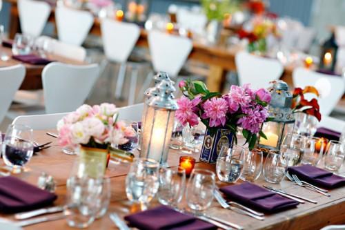 Non-Floral Centerpieces Lanterns and Tins