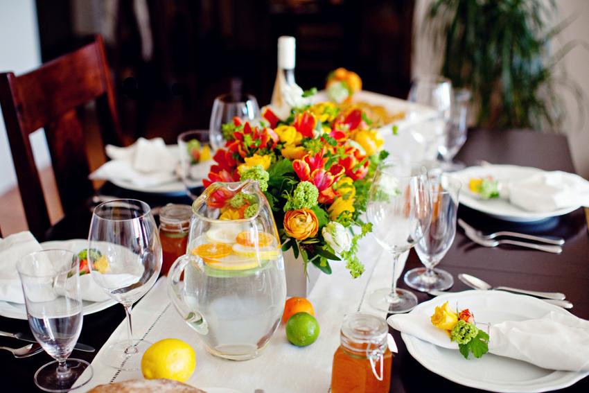 Orange Lemon Lime Wedding Table Decor Ideas Elizabeth Anne Designs