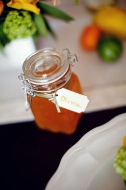 Orange Marmalade Jars Wedding Favor Ideas