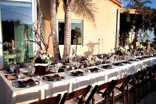 Outdoor Vineyard Wedding Reception Estate Table