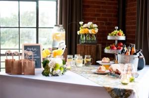 Picnic Wedding Food Display