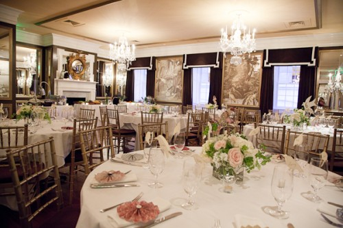 Pink Gold and Green Wedding Reception